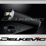 450mm Right Hand Oval Carbon Fibre Silencer