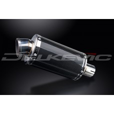 DS70 225mm Oval Carbon Fibre Silencer