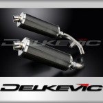 Stubby 350mm Oval Carbon Fibre Silencer to fit CBX1000 Pro Link (1981-1983)