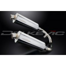Stubby 350mm Oval Stainless Steel Silencer to fit CBX1000 Pro Link (1981-1983)