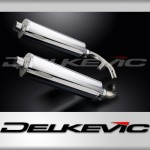 450mm Oval Straight Outlet Stainless Steel Silencer to fit CBX1000 Pro Link (1981-1983)