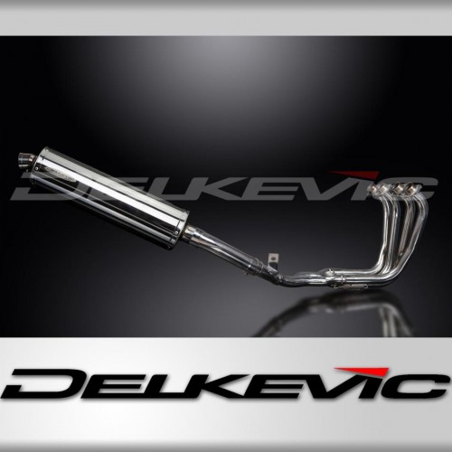 Full Exhaust System to fit FZS600 FAZER (1998-2003) with 450mm Oval Stainless Steel Silencer and Stainless Steel 4-1 Down Pipes