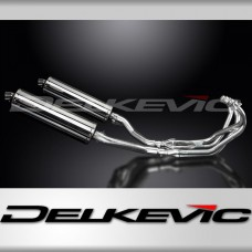 Full Exhaust System to fit XJ600N (1995-2003) with 450mm Oval Stainless Steel Silencer and Stainless Steel 4-2 Down Pipes