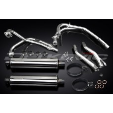 Full Exhaust System to fit XJ600N (1995-2003) with 450mm Oval Straight Outlet Stainless Steel Silencer and Stainless Steel 4-2 Down Pipes