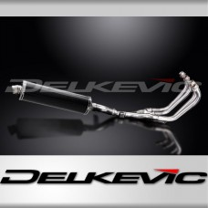 Full Exhaust System to fit XJ600N (1995-2003) with 450mm Oval Carbon Fibre Silencer and Stainless Steel 4-1 Down Pipes