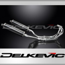 Full Exhaust System to fit XJ600N (1995-2003) with 450mm Oval Carbon Fibre Silencer and Stainless Steel 4-2 Down Pipes