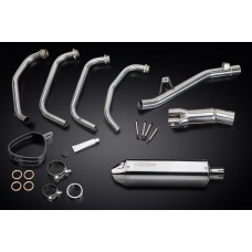 Full Exhaust System to fit GSF650SA BANDIT ABS (2005-2007) with 320mm Tri-Oval Stainless Steel Silencer and Stainless Steel 4-1 Down Pipes