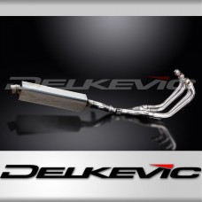 Full Exhaust System to fit XJ600N (1995-2003) with 420mm Tri-Oval Stainless Steel Silencer and Stainless Steel 4-1 Down Pipes