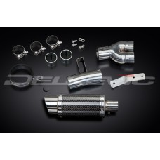 Mini 200mm Round Carbon Fibre Silencer to fit NT400 (1988-1993)