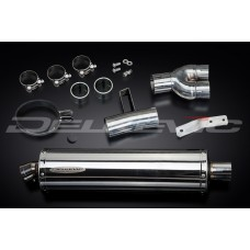 450mm Oval Stainless Steel Silencer to fit NT400 (1988-1993)