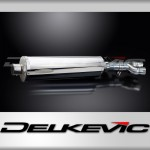 450mm Oval Straight Outlet Stainless Steel Silencer to fit NT650 (1988-1993)