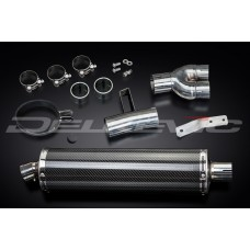 450mm Oval Carbon Fibre Silencer to fit NT400 (1988-1993)