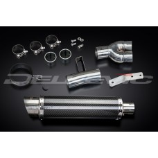 DL10 350mm Round Carbon Fibre Silencer to fit NT400 (1988-1993)
