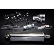 420mm Tri-Oval Stainless Steel Silencer to fit NT400 (1988-1993)