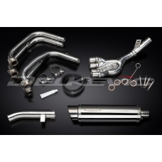Full Exhaust System to fit FZS600 FAZER (1998-2003) with SL10 350mm Round Stainless Steel Silencer and Stainless Steel 4-1 Down Pipes