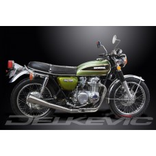 Full Exhaust System to fit CB550K FOUR (1974-1976) with Classic Universal Silencer and Stainless Steel 4-1 Downpipes