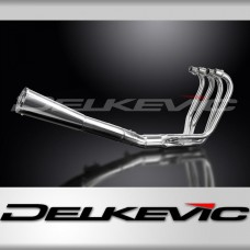 Full Exhaust System to fit CB550K (1977-1978) with Classic Universal Silencer and Stainless Steel 4-1 Downpipes