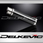 DL10-1 350mm Round Carbon Fibre Silencer to fit CB400SF NC39 (1992-1998)