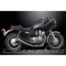 Full Exhaust System to fit CB750K DOHC (1978-1982) with Classic Universal Silencer and Stainless Steel 4-1 Downpipes