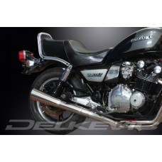 Full Exhaust System to fit GS1100GLZ (1982-1983) with Classic Universal Silencer and Stainless Steel 4-1 Down Pipes
