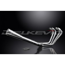 Full Exhaust System to fit CSR1000 (KZ1000M) (1981-1982) with Classic Universal Silencer and Stainless Steel 4-1 Down Pipes