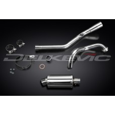 Full Exhaust System to fit YZF-R125 (2014-2016) with SS70 225mm Oval Stainless Steel Silencer and Stainless Steel Downpipe