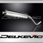 450mm Oval Stainless Steel Silencer to fit DR650SE (1996-1998)
