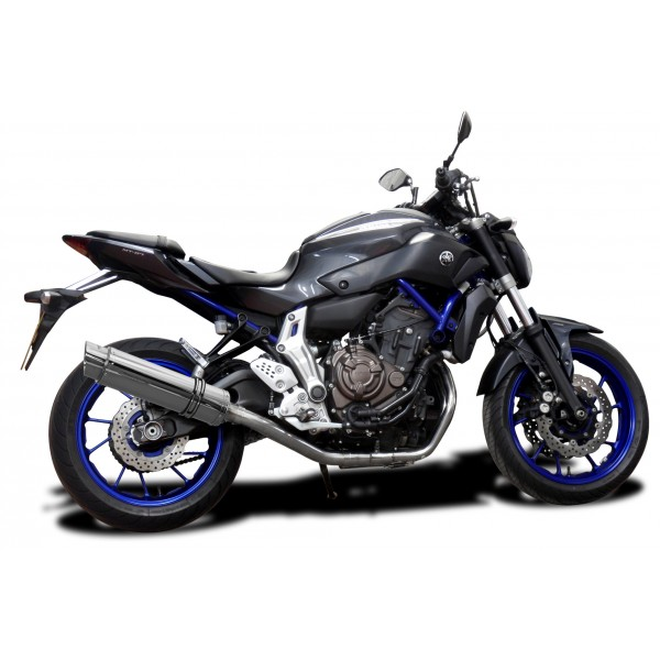 YAMAHA MT07 2014-19 FULL 2-1 EXHAUST SYSTEM 350mm STAINLESS