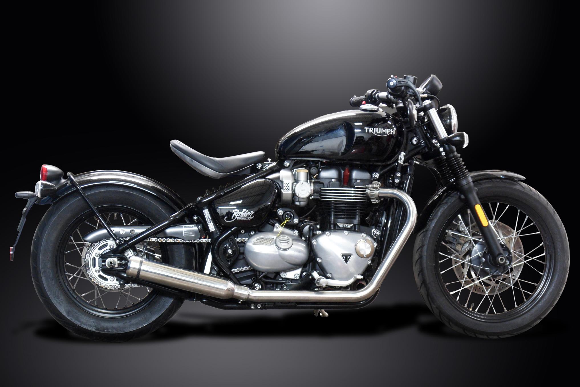 triumph bonneville bobber delkevic stainless steel custom