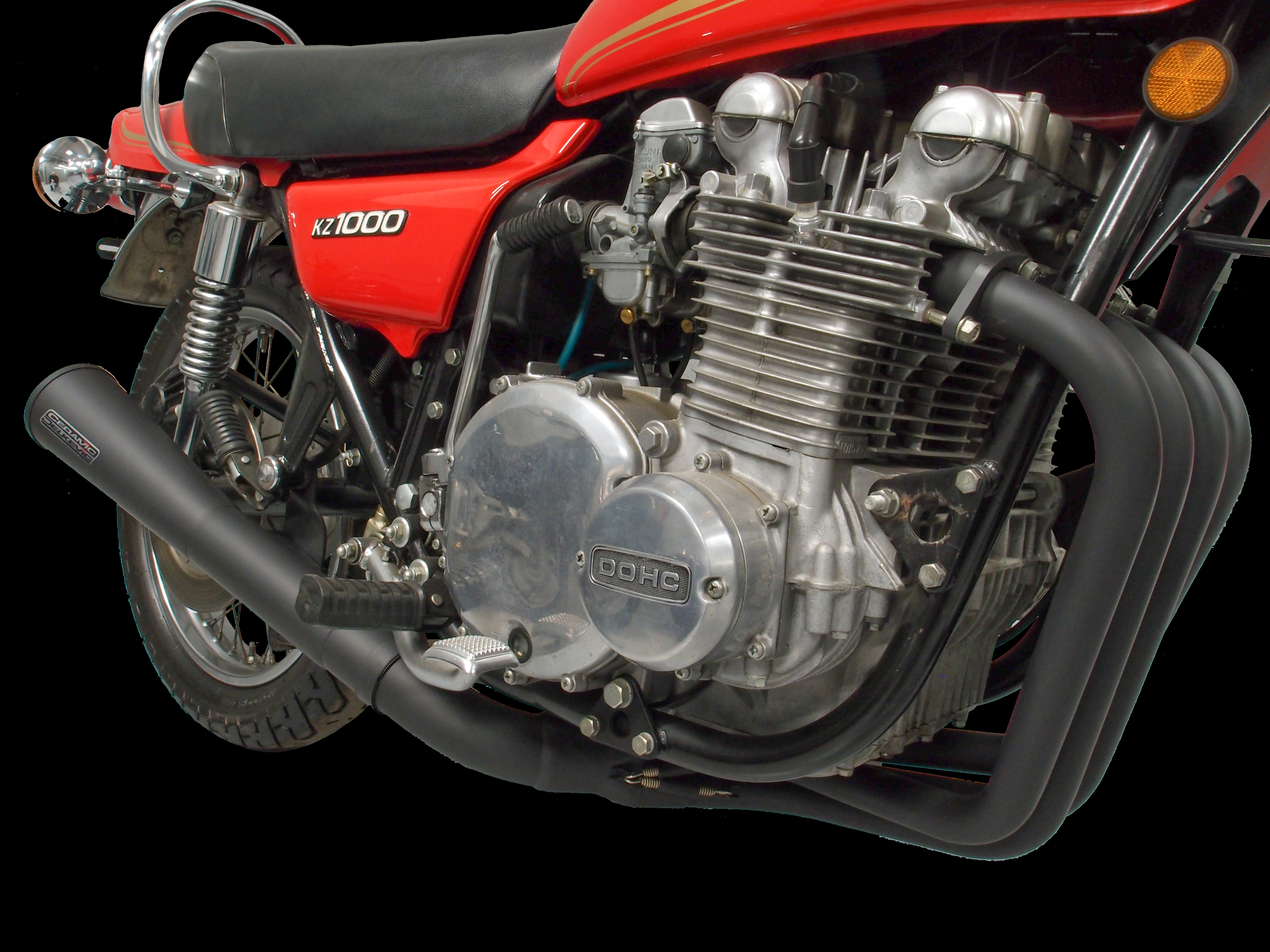 Kawasaki KZ1000 Delkevic Ceramic Black