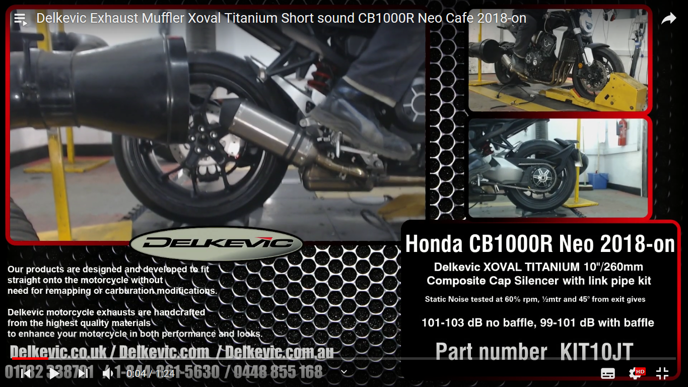 The Honda CB1000R NEO Delkevic exhaust