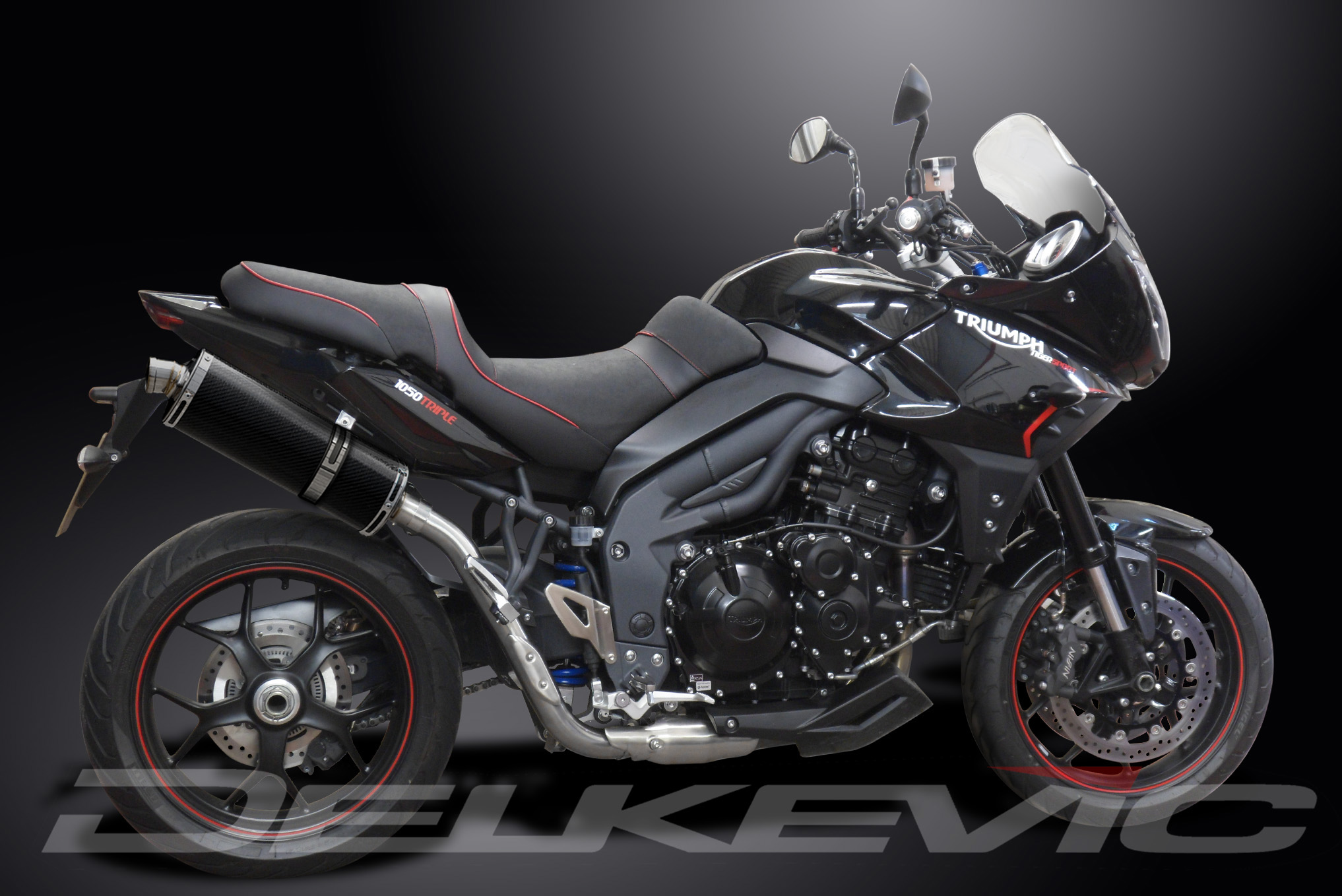 triumph tiger sport 1050 delkevic exhaust. Black Bedroom Furniture Sets. Home Design Ideas